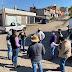 Trabajadores del Ayuntamiento visitan la calle Lombardo Toledano, previo a su rehabilitación