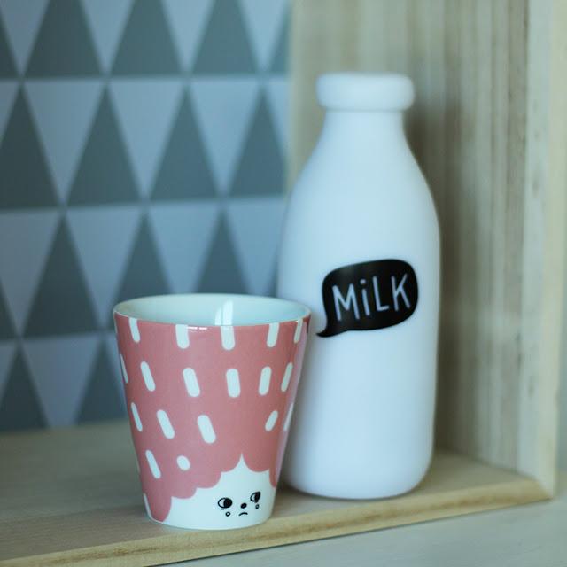 Minilampe Milchflasche