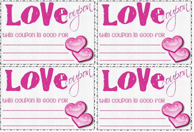 Creative romance love coupons for Coupon book for husband template