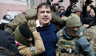 Ukrainian opposition leader Mikhail Saakashvili