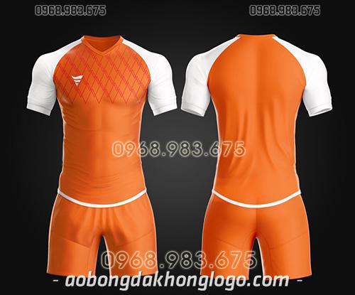 Áo bóng đá ko logo TA Spe màu cam