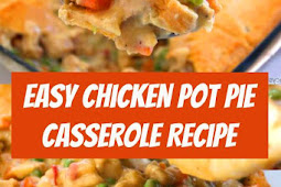 Easy Chicken Pot Pie Casserole Recipe #chicken #potpie #casserole #chickenpotpie #comfortfood #dinner