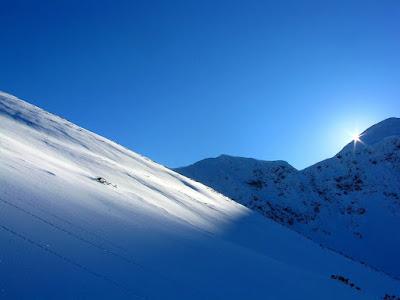 szlak na Starorobociański Wierch zimą