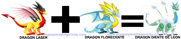 como sacar el dragon diente de leon en dragon city combinacion 2
