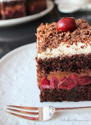 Ciasto Czarny Las - Przepis - Słodka Strona