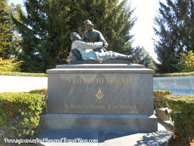 Gettysburg National Cemetery - Friend to Friend Masonic Monument