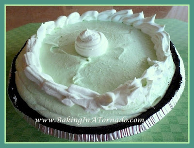 Chocolate Mint Pie | recipe developed by www.BakingInATornado.com | #recipe #dessert