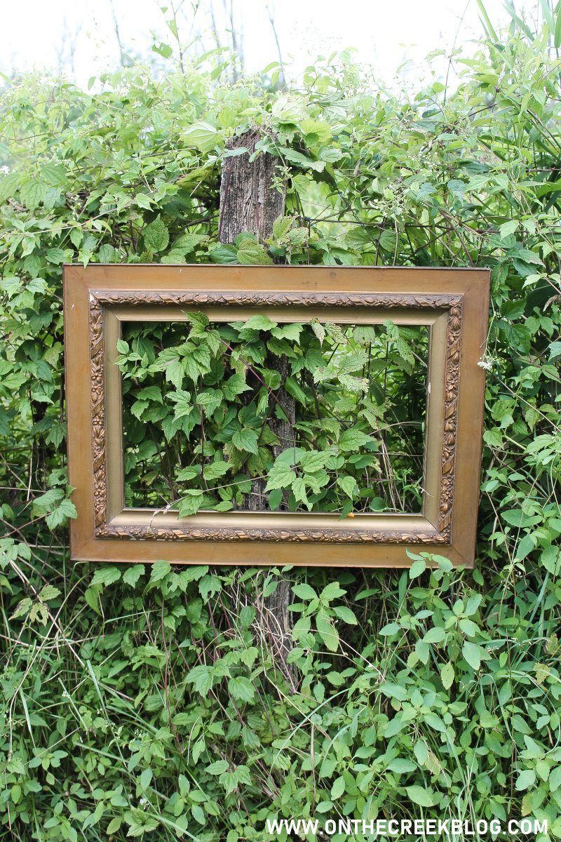 An old empty picture frame! | Thrifting Finds! | On The Creek Blog