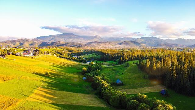 Panorama Tatr (ujęcie z miejscowości Murzasichle)