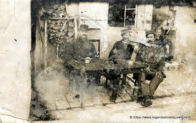 Photo noir et blanc militaires du 97 Ri de Riom