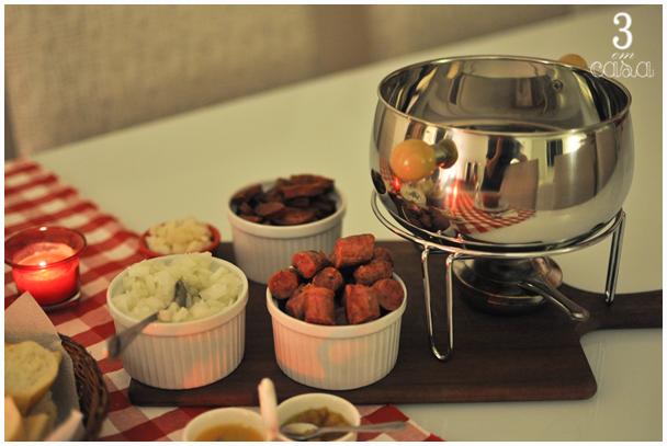mesa de caldinho de feijão