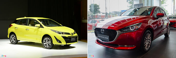 650 triệu đồng chọn Toyota Yaris hay Mazda2 Sport?