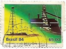 Selo Torres de Petróleo - carimbo 1984