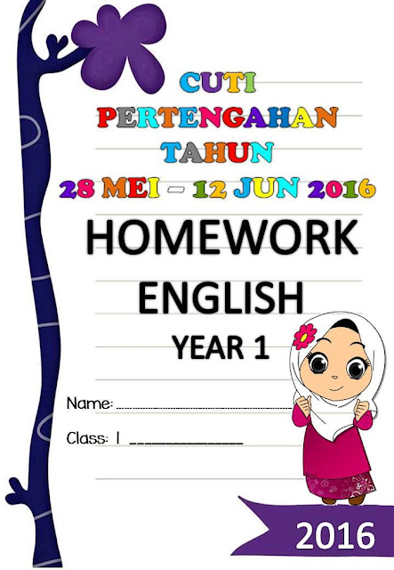 Homework English Year 1 Cuti Pertengahan Tahun