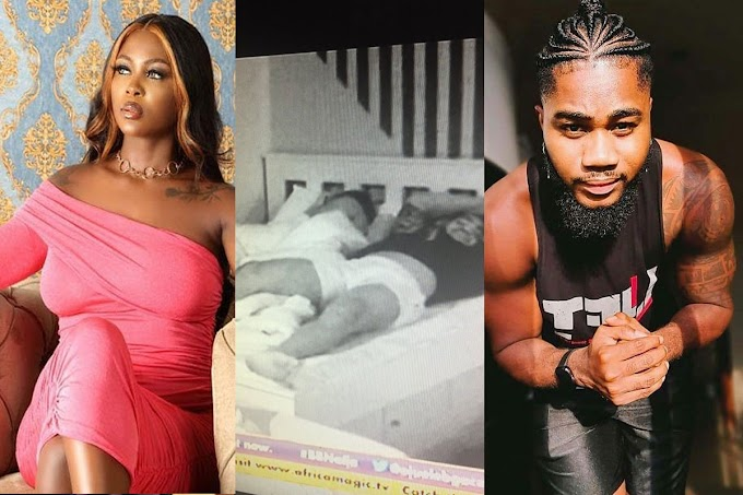 #BBNaija: Ka3na and I kissed aggressively under the sheets - Praise says (video)