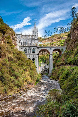 O santuário de Nossa Senhora de Las Lajas, em Ipiales, Colômbia