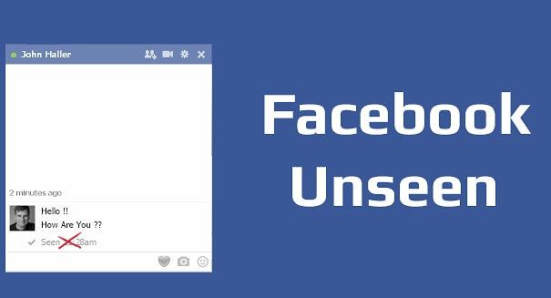 Facebook Unseen - Για να μην βλέπει ο φίλος σας ότι διαβάσατε το μήνυμα του