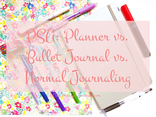 PSA: Planner vs. Bullet Journal vs. Normal Journaling // Our Journey in Journals