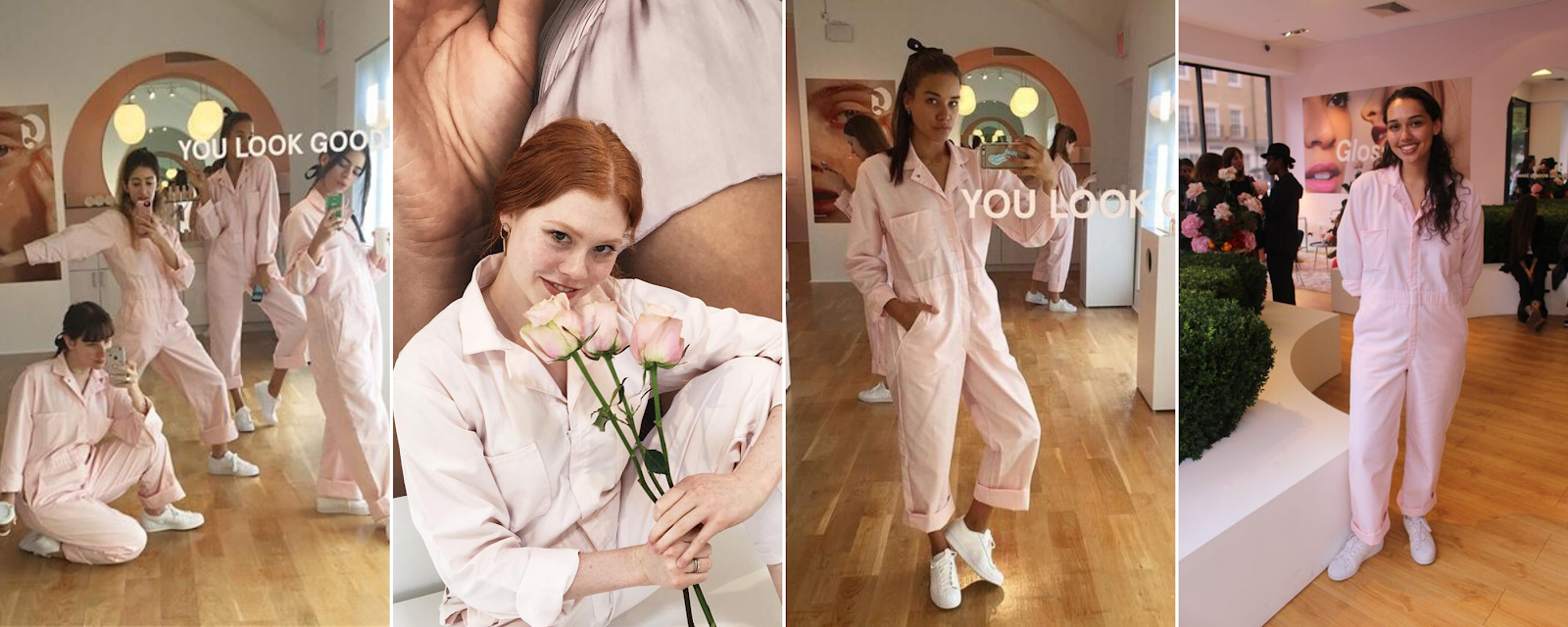 asos, glossier, pink, millennial pink, jumpsuit, boilersuit, jump suit, boiler suit, uniform, utility, florrie thomas, and finally, LFW, AW18