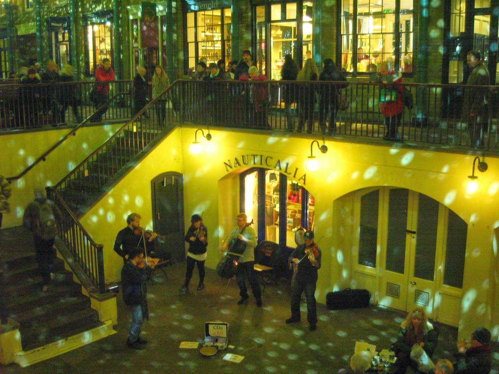 Actuación musical en Covent Garden