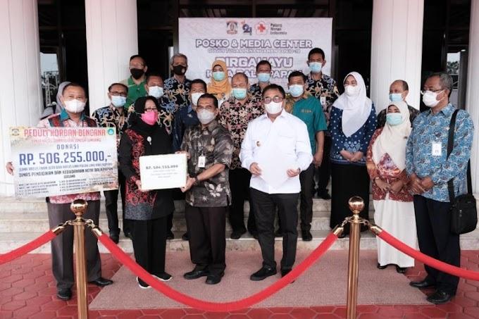 Disdikbud Balikpapan Serahkan Donasi untuk Korban Bencana, Nilainya Capai Rp 500 Jutaan