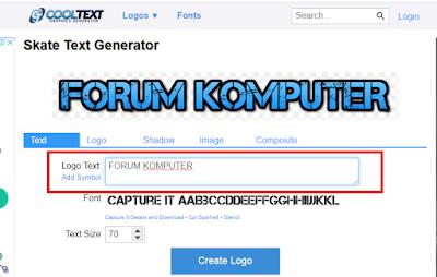 Cara Membuat Logo Secara Online Lewat Situs Cooltext Gratis