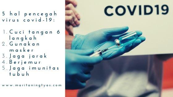 5 hal mencegah virus covid-19
