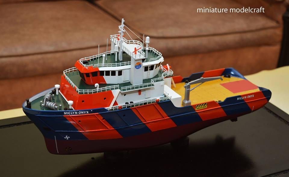 tempat jual miniatur kapal ahts miclyn onyx terpercaya rumpun art work planet kapal