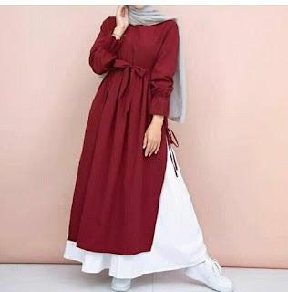 Model baju lebaran tunic simple dress