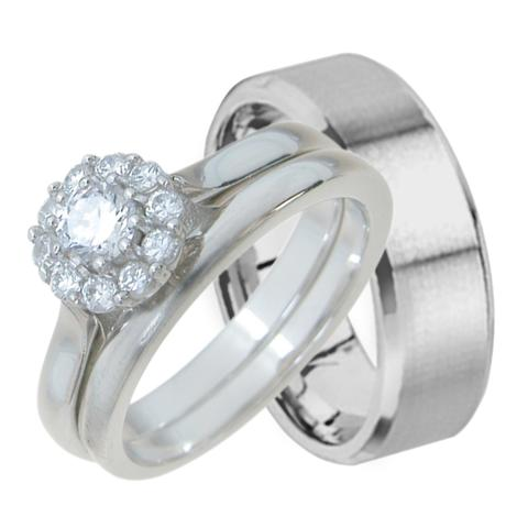 Cheap His And Hers Wedding Ring Sets