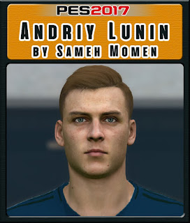 PES 2017 Faces Andriy Lunin by Sameh Momen