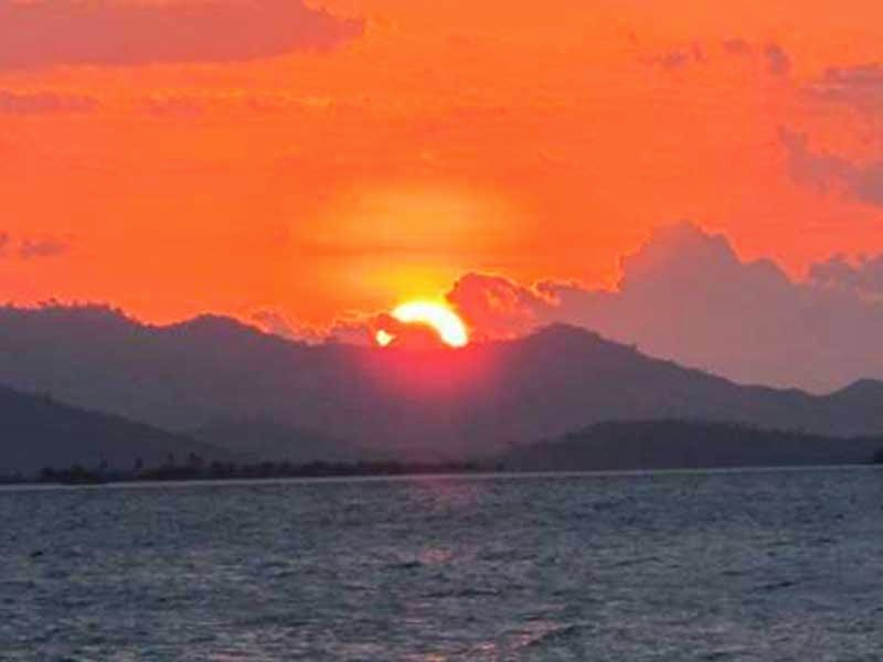 sunset di gili nanggu, foto sunset di lombok, fotografi sunset, wisata lombok