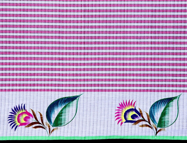 fabric painting on cotton saree design images