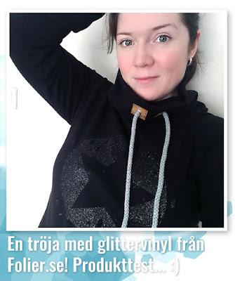 Egensydd tröja med glittervinyl från jobbet - min nya favorittröja! :)