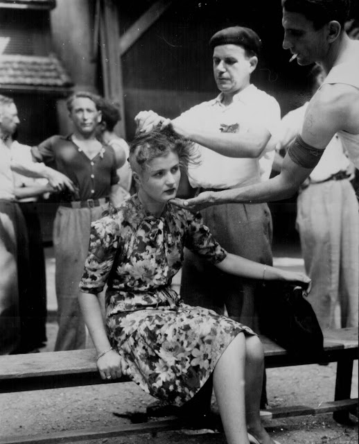 Think, that nazi collaborators heads shaved publicly are