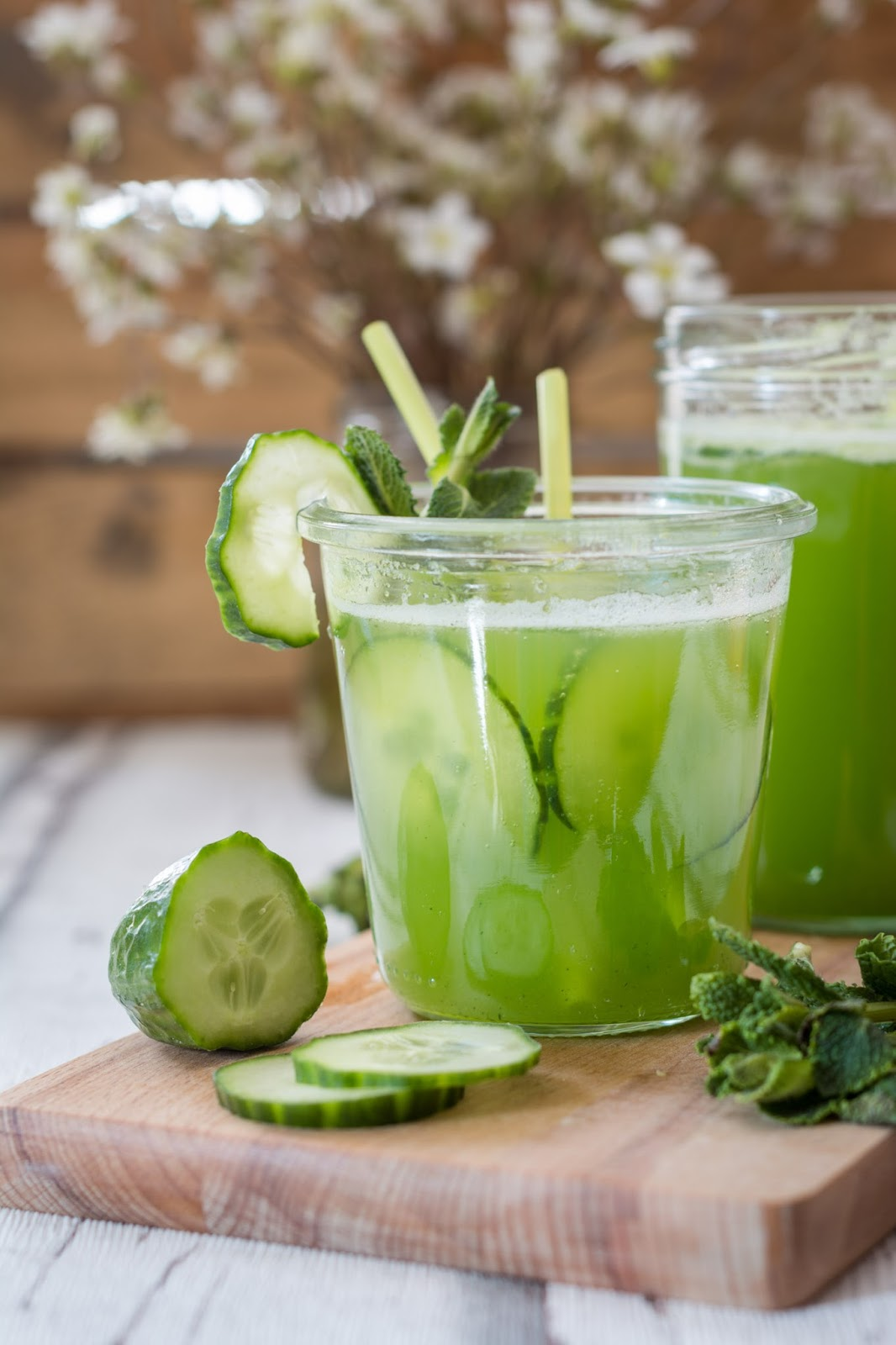 Gurkenlimo Gurkenlimonade Limonade mit Minze und Gurke