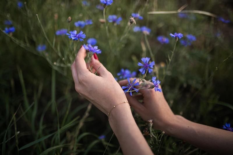 zdjęcie rąk i kwiatów
