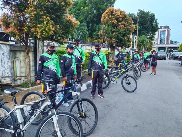 Gowes Diwilayah Kota Pematang Siantar Dilaksanakan Personel Jajaran Kodim 0207/Simalungun