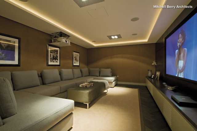 Tuck some lighting into a recessed ceiling.