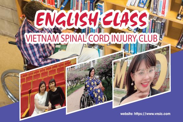 Lớp học tiếng Anh trực thuộc Câu lạc bộ Chấn thương cột sống Việt Nam.
