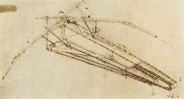 Mesin Terbang Leonardo Da Vinci