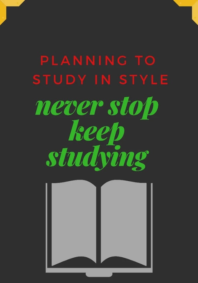 Planning your studies to get most out of it