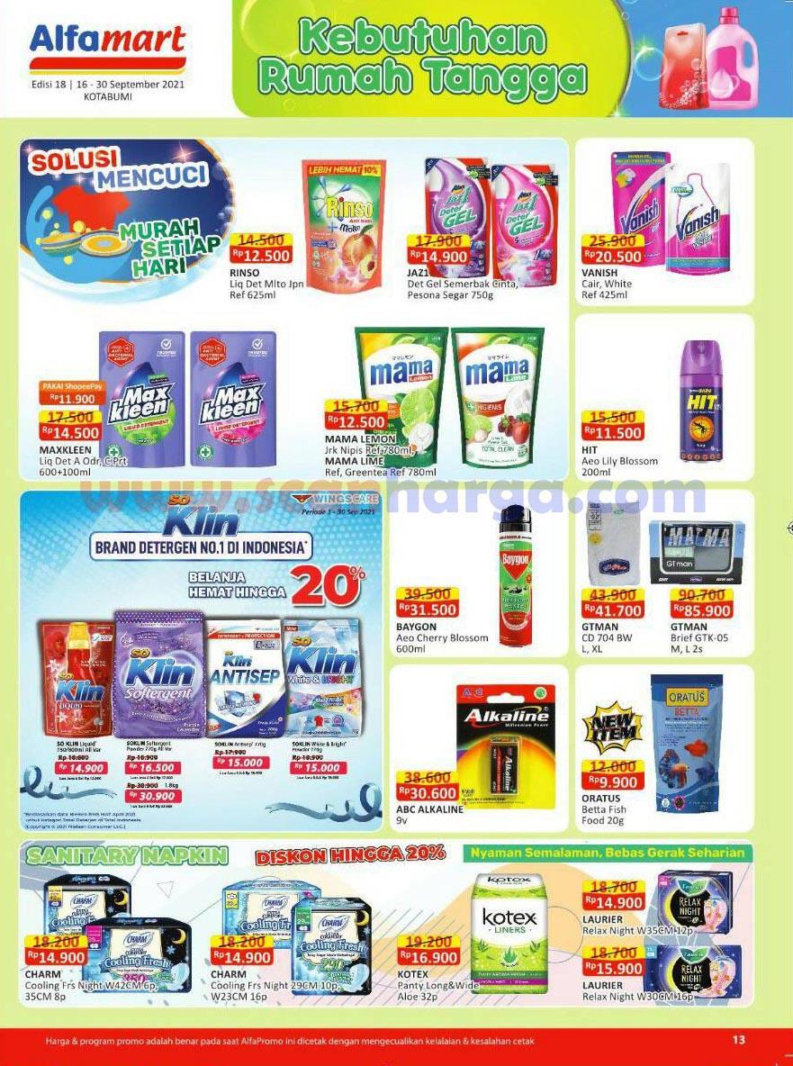 Katalog Alfamart Promo Terbaru 16 - 30 September 2021 13