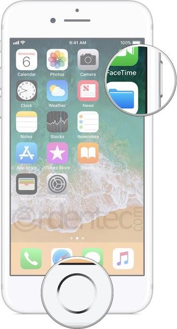 iPhone 8, iPhone 7, iPhone 6 take a screenshot