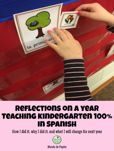 Teaching Kindergarten Spanish 100% in the Target Language