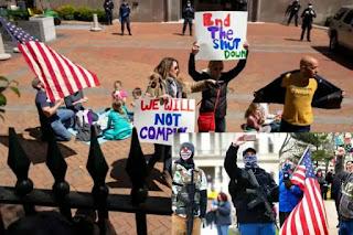 Many states descended against lockdown
