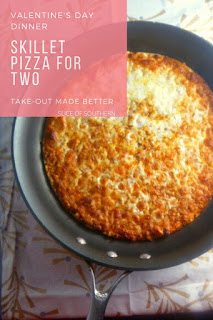 Delicious cheesy pizza just for two is so much better than takeout, and it's doable on a weeknight! - Slice of Southern