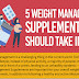 5 Weight Management Supplements You Should Take In 2020 #infographic