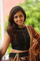 Lasya looks super cute in black choli Saree at Raja Meru Keka Press Meet ~  Exclusive 058.JPG