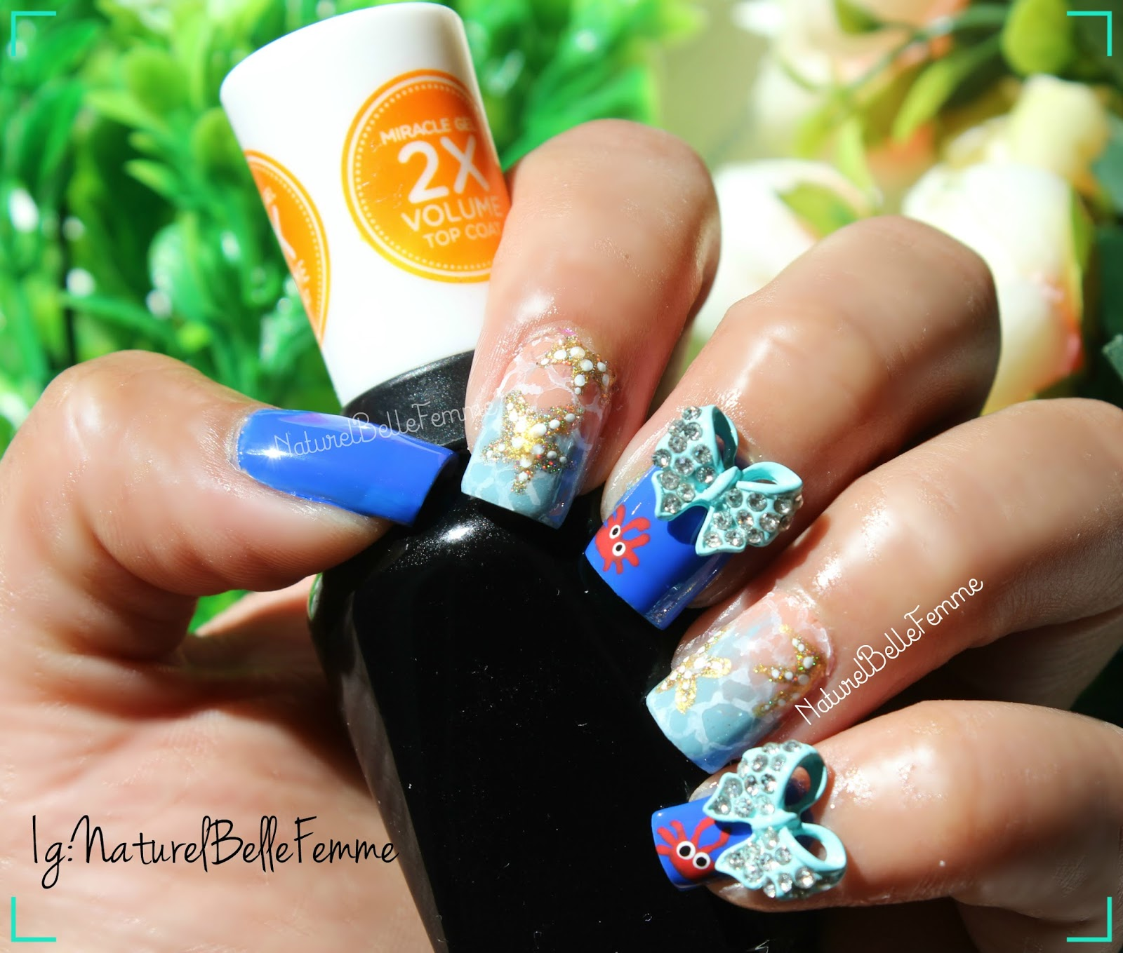 naturelbellefemme: Starfish nail art